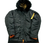 Куртка HUSKY SHORT DENALI BLACK/ORANGE